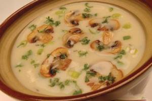 Быстрый суп с грибами