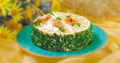 Бутербродный торт с сельдью