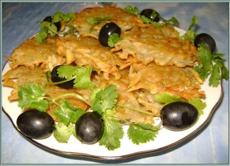 Картофельные оладьи с луком