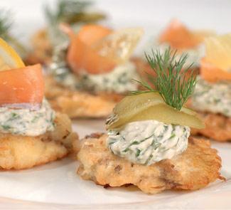 Картофельные латкес с грибами