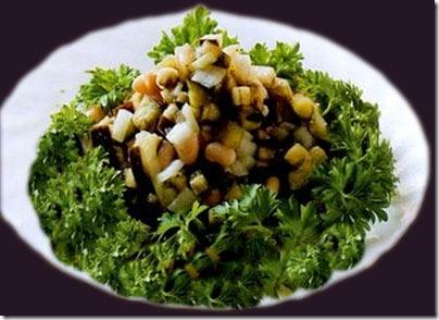 Салат из красной фасоли консервированной или отварной