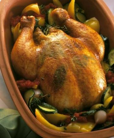 Цыпленок с рисом по баскски