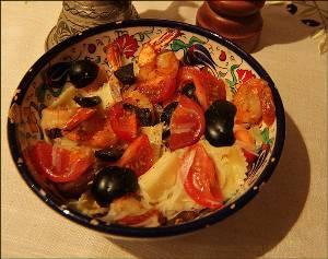 Салат из рожков и маслин «Диетический»