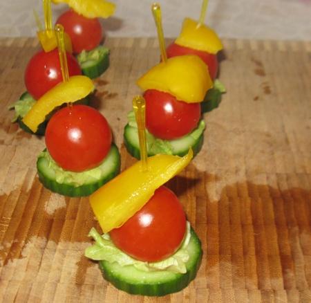 канапе с овощами рецепты с фото