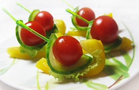 Канапе из овощей