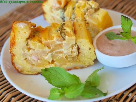 Яблочный пай из тостового хлеба