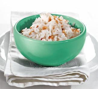 Рис с арахисом и соусом песто