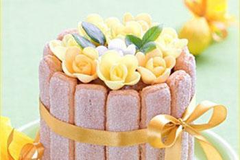 Быстрый торт из сливочного суфле с Савоярди