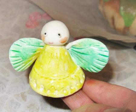Кулич с ангелом из марципана