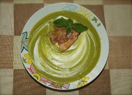 Мятно-гороховый крем-суп