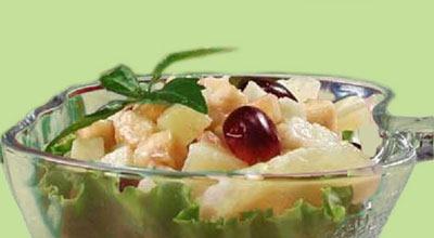 Рецепт фруктового салата с заправкой из сгущенного молока