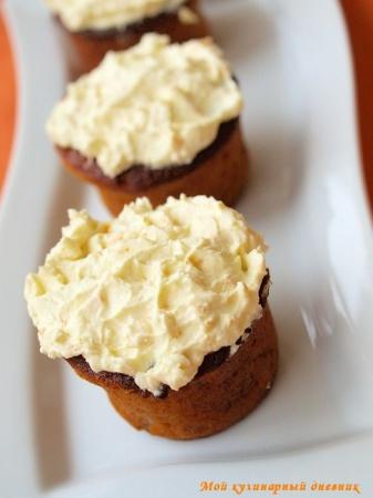 Банановые кексы с апельсиновым кремом