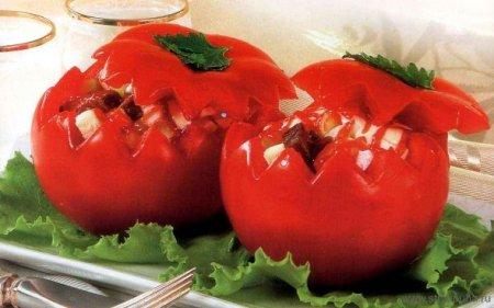 Фаршированные помидоры с гречневой кашей