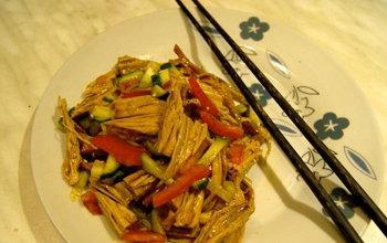 Салат из спаржи по-корейски