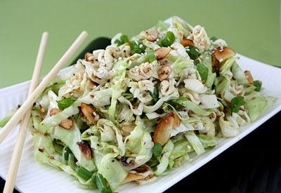 Салат из пекинской капусты: рецепт с лапшой быстрого приготовления