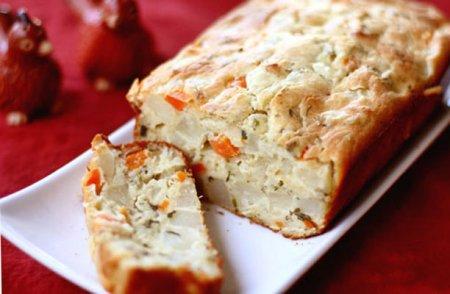 Вкусный хлеб с морковью и картофелем