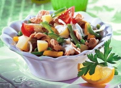Салат из рыбы отварной