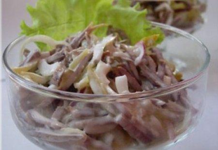 Салат из языка и майонеза