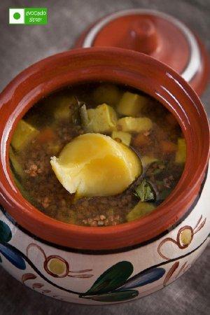 Димкина каша (гречневая каша с овощами и сыром)
