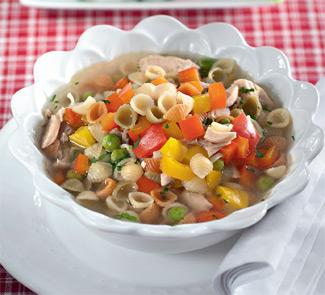 Куриный суп с мини-пастой