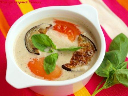 Итальянский крем-суп с баклажанами