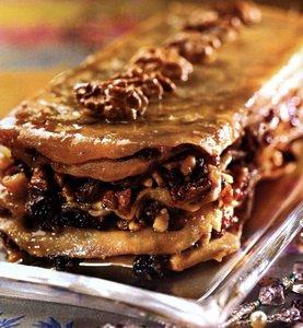 Восточное пирожное с грецкими орехами