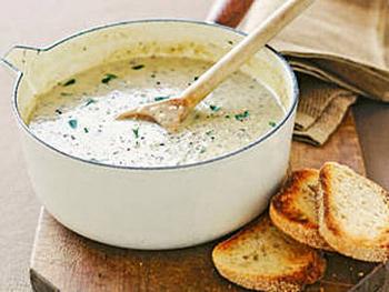 Французский сливочный суп с вином