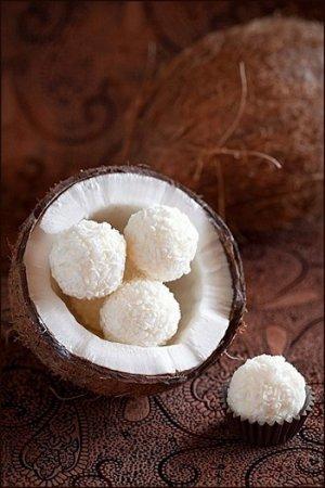 Домашние конфеты из белого шоколада