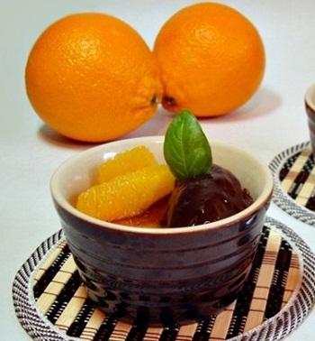 Шоколадно-апельсиновое крем-брюле