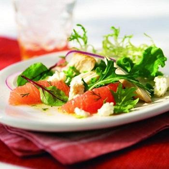 Салат из курятины с грейпфрутом