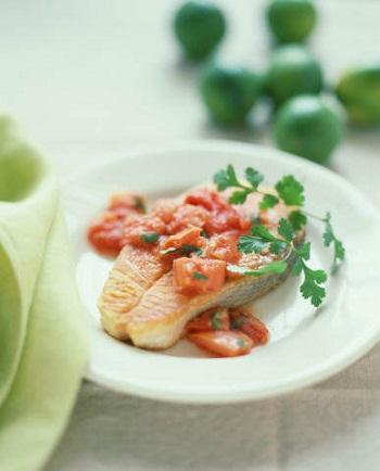 Рыба с витаминным гарниром
