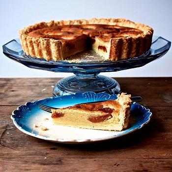 Персиково-миндальный пирог-галета