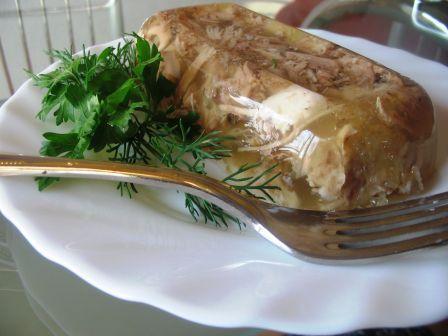 Колбаса из курицы в желе