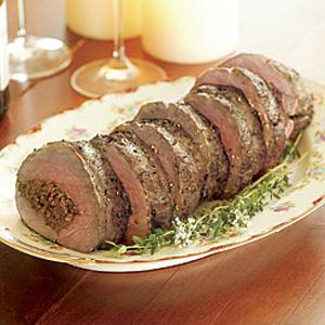 Говядина, фаршированная свининой