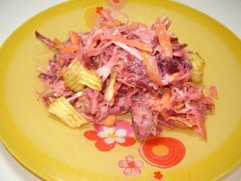 Овощной салат с чипсами