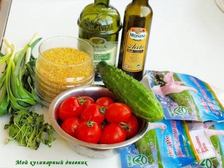 Салат с утиной грудкой и булгуром