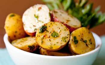 Картофель с горчичной заправкой
