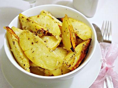 Пряный картофель в горчичном соусе