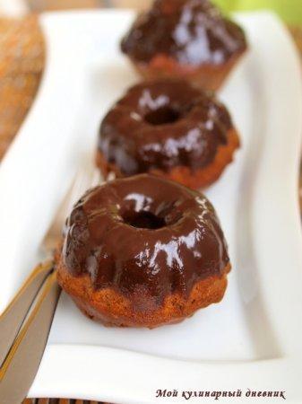 Шоколадные кексы с фундуком