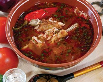 Грузинский суп с бараниной