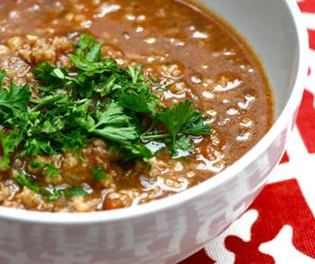 Вегетарианский быстрый суп харчо