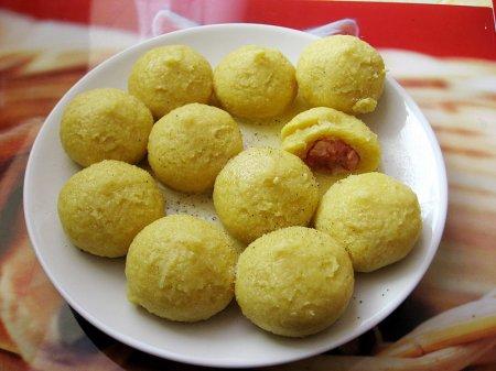 Кнедлики из картофеля с мясом