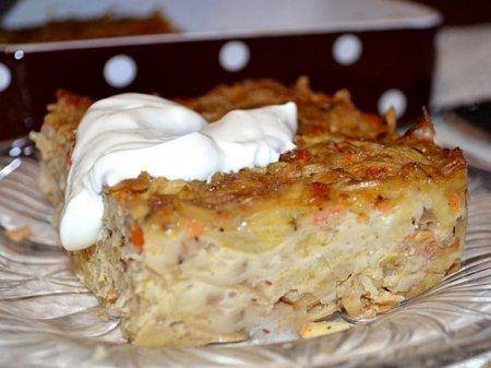 Квашеная капуста, запеченная с картофелем