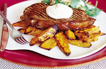 Быстрый обед «Бифштекс + картошка»
