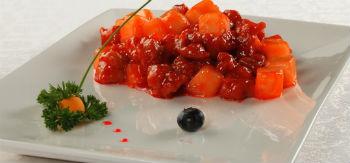 Свинина в ананасово-томатном соусе