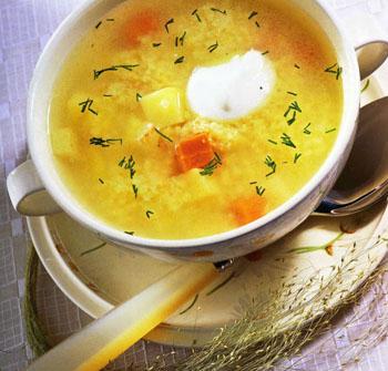 Рецепт пшённого куриного супа в мультиварке