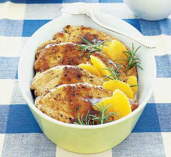 Курятина с апельсиновым «сюрпризом»