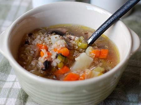 Грибной суп с луком