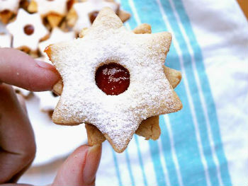 Новогоднее печенье «Падающая звезда»