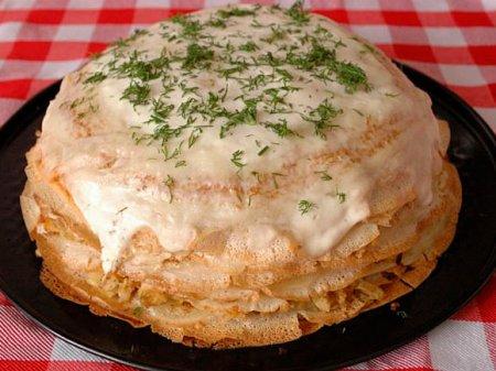 Блинный торт по-рязански